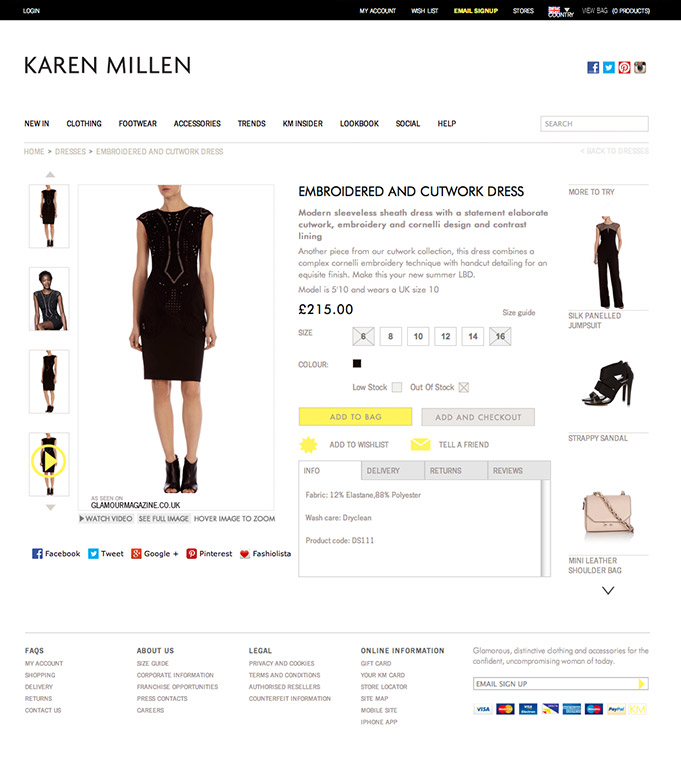 Karen Millen screengrab